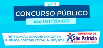 RETFICAÇÃO 0O1/2019 DO CURSO PÚBLICO 001/2019 EDITAL N. 001/2019 DE ABERTURA E REGULAMENTO GERAL